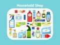 Household shop icon set Royalty Free Stock Photo