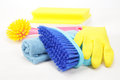 Housekeeping equipments concept shot of house Stock Photography
