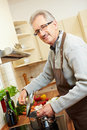 Housemaker cooking lunch Royalty Free Stock Image