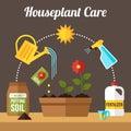 Houseplant care scheme