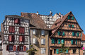 Houses in alsace half timbered france Royalty Free Stock Photo