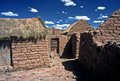 Houses on Altiplano in Bolivia,Bolivia Stock Photo