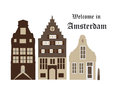 Houses amsterdam Royalty Free Stock Photo