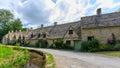 Houses of Arlington Row in Bibury Village, England Royalty Free Stock Photo