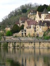Houses, Beynac-et-Cazenac ( France ) Stock Photo