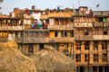 Houses in the central district of bhaktapur more cultural groups have created an image of bhaktapur as capital of nepal arts circa Royalty Free Stock Photo