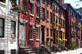 Houses on Gay Street, New York City Stock Photos