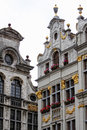 Houses of Grand-Place in Brussels Royalty Free Stock Images