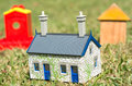 Houses on green grass Royalty Free Stock Photo