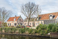 Houses in an historic Dutch village Royalty Free Stock Photo