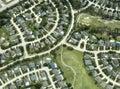 Domy domy sousedství letecký pohled