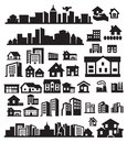 Houses icons Royalty Free Stock Images