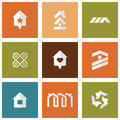Houses icons set real estate Stock Image