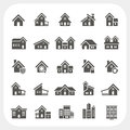 Houses icons set real estate eps don t use transparency Stock Photo