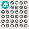 Houses icons set real estate illustration eps Stock Photos