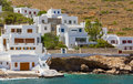 Houses in Kamares, Sifnos island, Greece Stock Photo