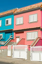 Houses with a lot of colors in town Stock Image