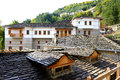 The houses in metsovo greek village greece Royalty Free Stock Images