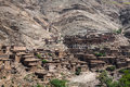 Houses in the mountains close to Imlil in Toubkal National Park, Royalty Free Stock Photo
