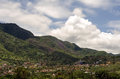 Houses mountainside in mexico built on slope of mountain the chapala area of Stock Photography