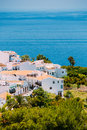 Houses in Nerja, Malaga Province, Andalusia, Spain Royalty Free Stock Photo