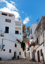 Houses in old Ibiza town Royalty Free Stock Images