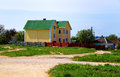 Houses on the outskirts of kerch crimea ukraine Royalty Free Stock Photo