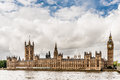 Houses of parliament london england view the from across the river thames in united kingdom Royalty Free Stock Image