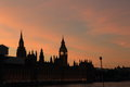 Houses of Parliament, Sunset Royalty Free Stock Photo