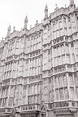 Houses of parliament westminster london facade england uk Stock Photo