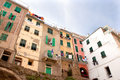 Houses in riomaggiore in italy at the ligurian coast Royalty Free Stock Image
