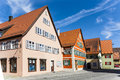 Houses in romantic dinkelsbuehl city of late middleages and timbered Stock Images