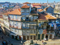 Houses rua escura in porto residential district sé portugal Royalty Free Stock Image