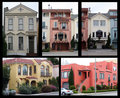 Houses in San Francisco Stock Photos