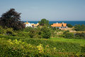 Houses by the sea on island of bornholm Royalty Free Stock Images