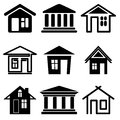 Houses set Royalty Free Stock Photo