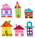 Houses set illustration of a Stock Photos