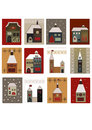 Houses set for scrapbooking vector Stock Image