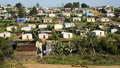 Houses in a South African township Royalty Free Stock Photo