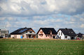 Houses in the suburb gliwice poland Royalty Free Stock Photo