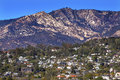 Houses suburbs mountain santa barbara california landscape Stock Photo