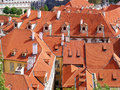 Houses with tiled roofs red Royalty Free Stock Images