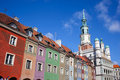 Houses and Town Hall in Old Market Square, Poznan Royalty Free Stock Photography
