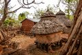 Houses of tribe konso in ethiopia Royalty Free Stock Photos