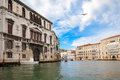 Houses of venice view from the boat on grand canal italy Royalty Free Stock Image