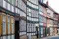 Houses in wernigerode medieval germany Stock Images