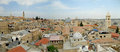 Housetop in the old city view of jerusalem Stock Photo