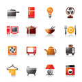 Houseware colorful icons a collection of different kinds of it contains hi res jpg pdf and illustrator files Stock Image