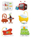 Houseware icon set Royalty Free Stock Images