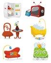 Houseware icon set Royalty Free Stock Photo